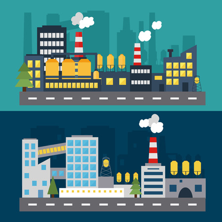Building icon. Flat design modern vector illustration. Concept for web banners and infographic. City life.