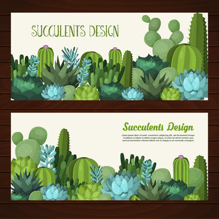 desert cactus: Colorful design elements for for illustrations, greeting cards and wedding invitations. Illustration