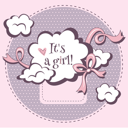 baby girl: design template for baby shower. It is a girl