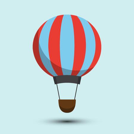 on air sign: Air balloon icon Illustration