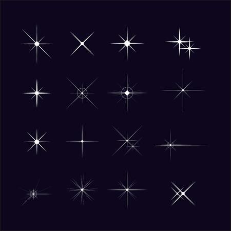 starbursts: Set of various forms of sparks Vector starbursts symbols