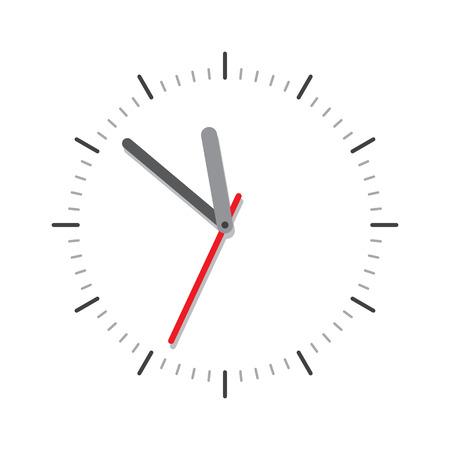 Vector moderne Uhr Gesicht auf weißem Hintergrund isoliert