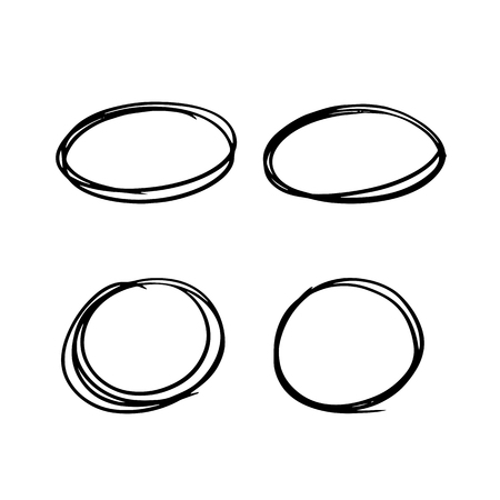 scribble: Set of hand drawn frames scribble circles