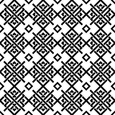 Geometric black and white ornament. Seamless monochrome pattern