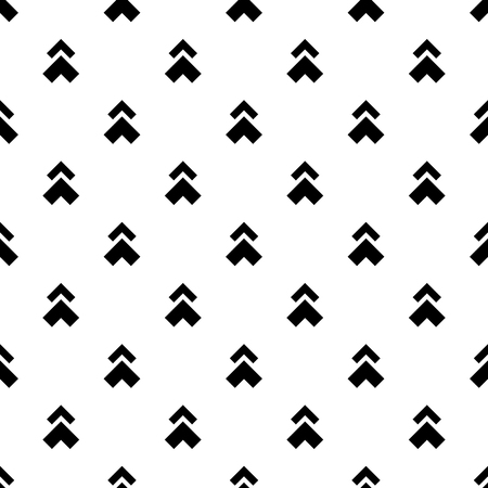 Abstract seamless monochrome pattern, black and white arrow  イラスト・ベクター素材