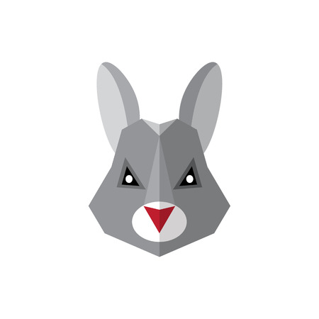 Flat style icon rabbit on a white background