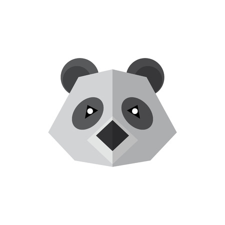 Flat style icon panda isolated on a white background Reklamní fotografie - 122464632