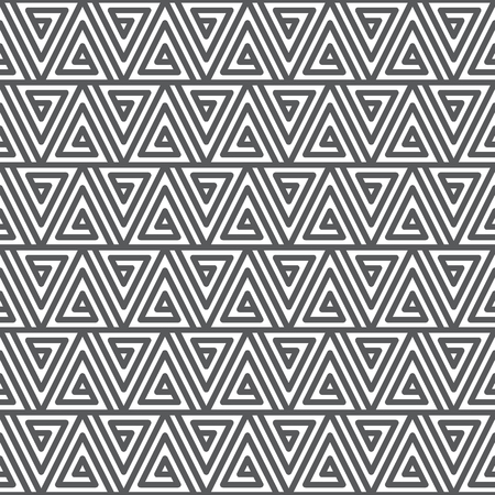 Seamless abstract geometric pattern. Black and white texture Illustration