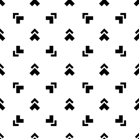 Abstract seamless monochrome pattern, black and white arrows  イラスト・ベクター素材