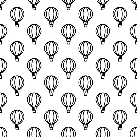Seamless air balloon pattern. Line icon aerostat monochrome background. Vector illustration Reklamní fotografie - 107588555