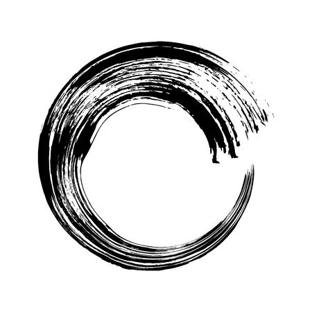 Vector hand drawn circle. Black doodles scribble ring