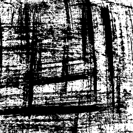 Vector grunge background. Black and white urban texture template. Brush paint, ink strokes patern