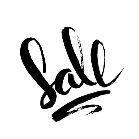 Sale - handwritten inscription. Hand drawn text. Brush painted lettering Illusztráció