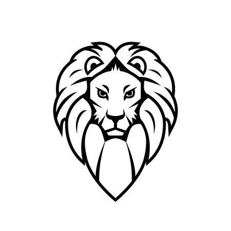 Lion head icon isolated on a white background