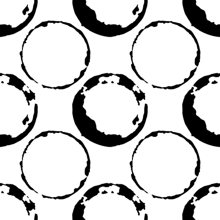 Coffee or tea stains seamless pattern. Splashes of cups and mugs background