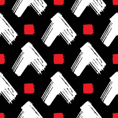 Abstract seamless pattern. Hand drawn arrows background Illusztráció