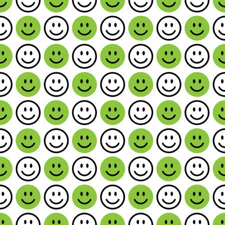 Smile icon pattern. Happy faces on a white background. Vector abstract background Иллюстрация