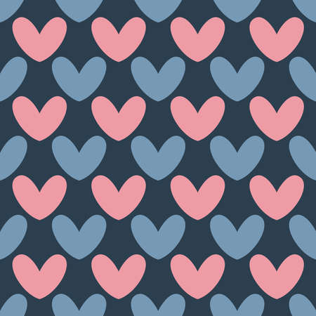 Vector seamless heart pattern. Valentines day background.