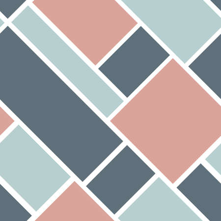 Vector seamless geometric pattern with squares and rectangles