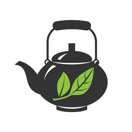 Vector icon of teapots isolated on a white background