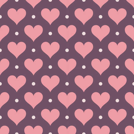 Vector seamless heart pattern. Valentines day background