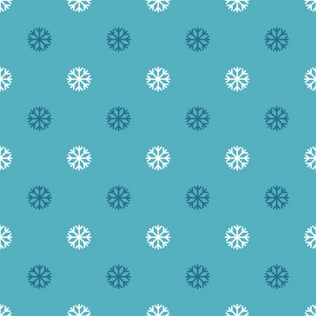 Vector seamless snowflakes pattern. Snowfall winter background