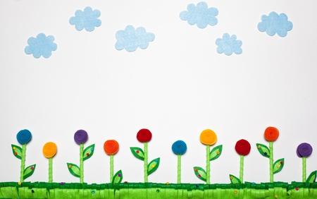 40 Flores De Fieltro Artesanía Adorno Craft De los 3 Colores para Elegir