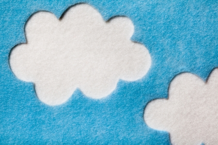 clouds: Felted Clouds