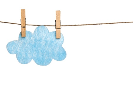 Felted Cloud on Clothesline photo
