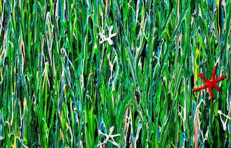 Flower Field Acrylic Art Texture Stock Photo - 17445524