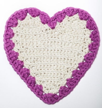 Crochet Knitted Heart