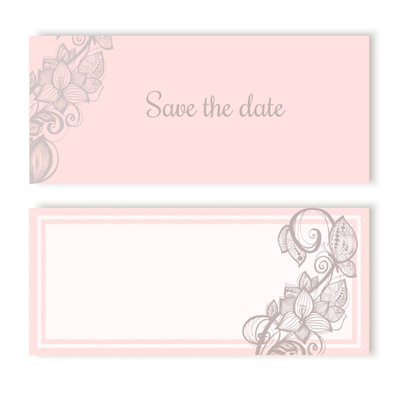 soft colors: Invitation cards template for wedding engagement in soft colors Illustration