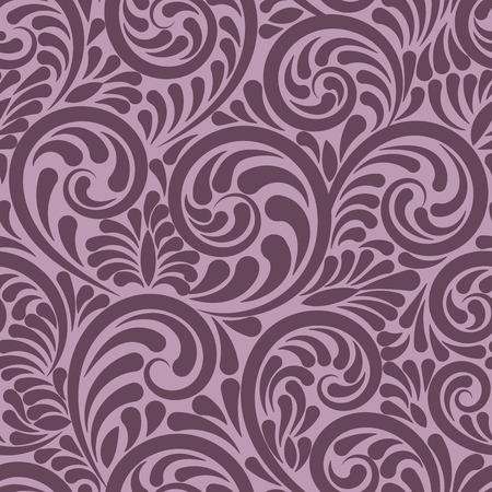 voilet: Swirls and curls seamless abstract background in voilet color