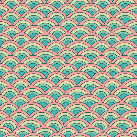 fish scale: Geometry seamless vector pattern fish scale. Abstract mosaic background imitating fish scales Illustration