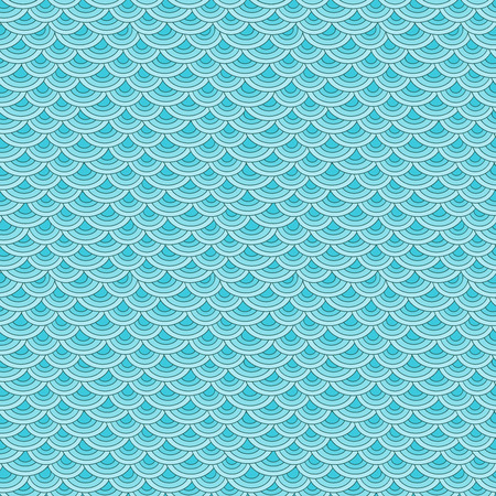 fish scales: Marine fish scales simple seamless pattern in soft pastel colors Illustration