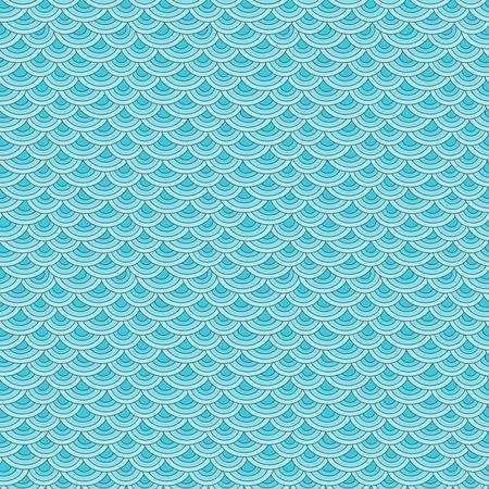 Zeevissen schalen eenvoudige naadloze patroon in zachte pastelkleuren Stock Illustratie