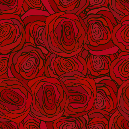 claret: Red roses seamless pattern for valenine s day greeting or celebration decor