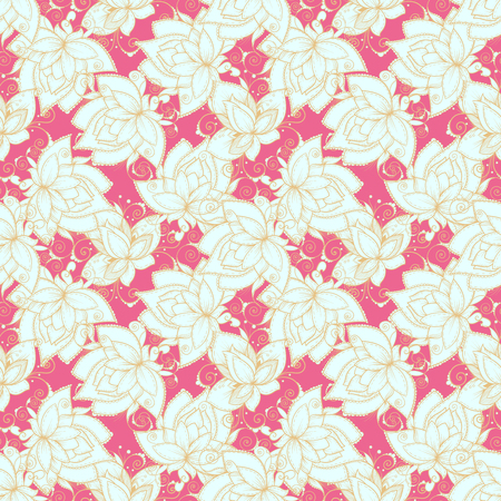 tile: Seamless pattern with brigh colors and decorative flowers