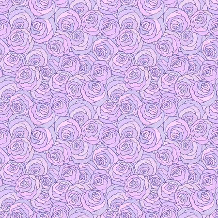 Floral decorative bright purple illustration.