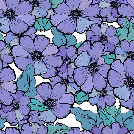 Seamless avec des fleurs colorées et romantique et doux fond . Banque d'images - 88165163