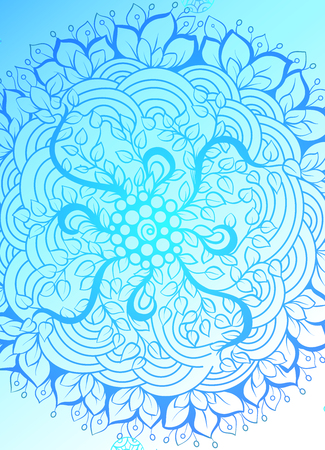 Mandala simple thin line stylish background. Ornamental vector backdrop for cards, invitations, banner, templates and wallpapers. Illustration