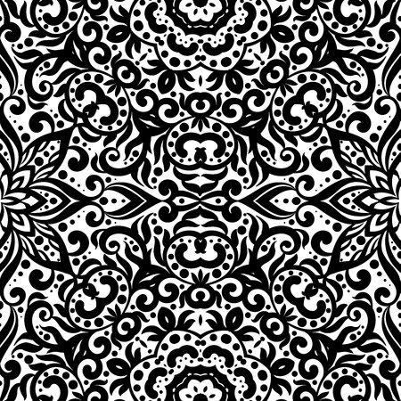 Black and white pattern with flourishes