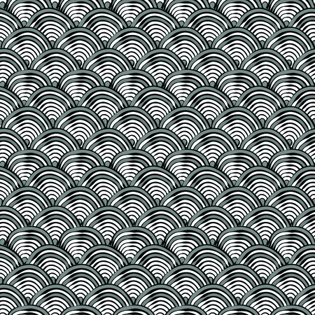 Black and white pattern with abstract fishscales. Can be used for desktop wallpaper or poster,for pattern fills, surface textures, web page backgrounds, textile and more