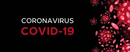 Cartoon concept coronavirus red COVID-19 nCov 2019 virus vector illustration Ilustração