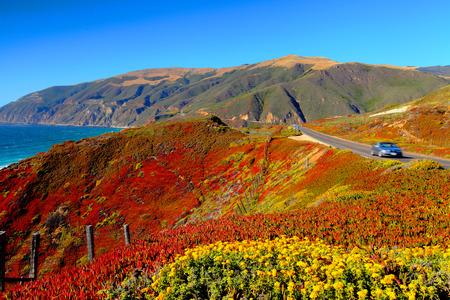 California Coast and California Highway 1 Banco de Imagens