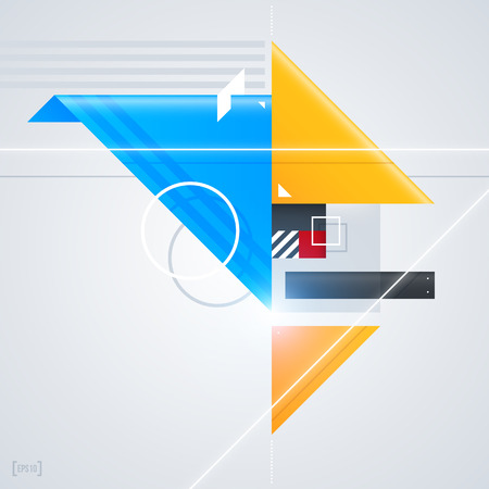 compositions: Abstract design element with glossy geometric shapes. Useful for digital compositions and layouts.  Illustration