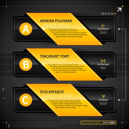 techno: Three techno options.