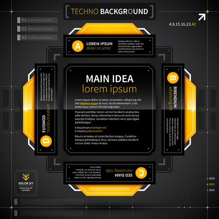 techno background: Modern techno background with 4 options. Illustration