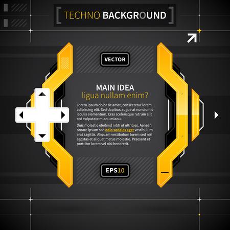 techno background: Modern techno background. Illustration