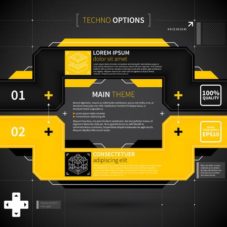 techno: Modern techno layout. Illustration